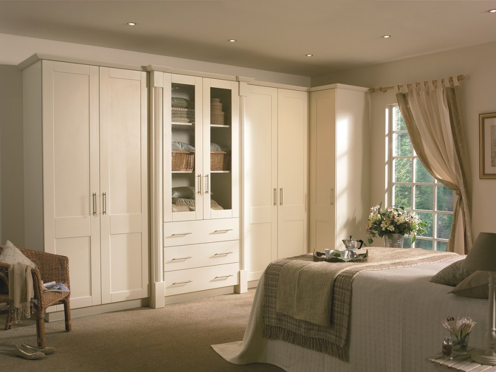 cream fitted wardrobes